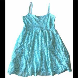 Garage sky blue mini babydoll dress